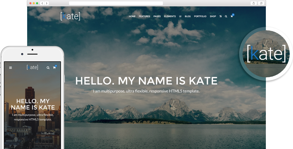 Kate Template on Devices Demo